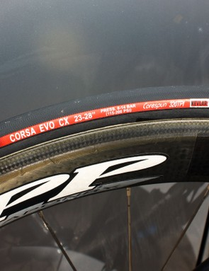 Vittoria tyres are a staple item for the Cervelo TestTeam