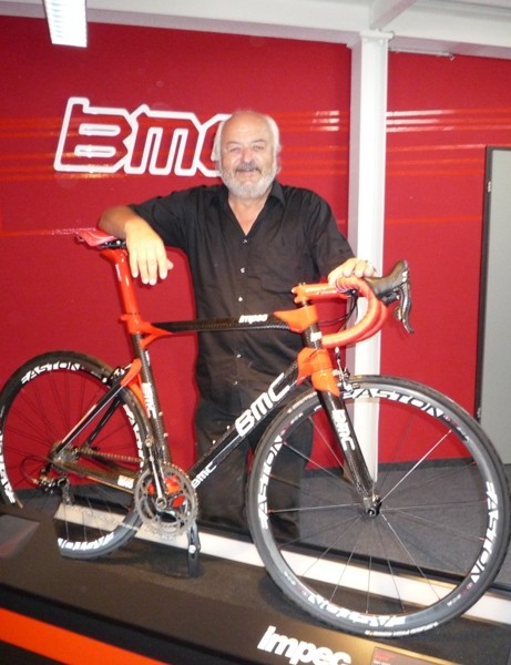BMC owner Andy Rihs with the new Impec