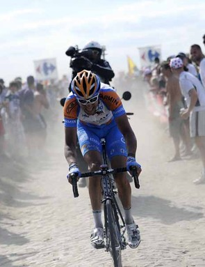 Ryder Hesjedal was one of the strongest riders on the cobbles in stage 3