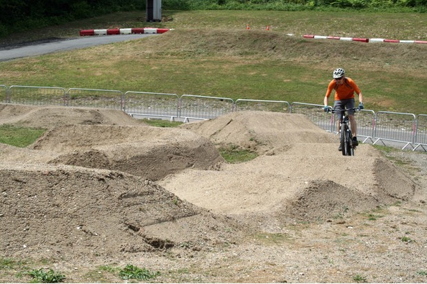 The pump track is tight enough to challenge even experienced riders
