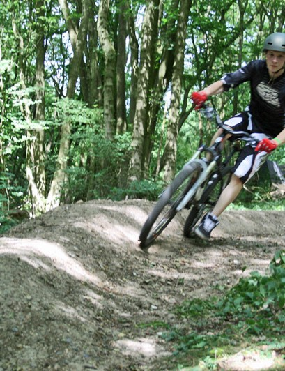 There are plenty of berms and rollers to test your skills ...