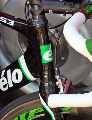Cervelo easily could have gone over the top with Hushovd's rig but decided to go the elegant route with just a few hints of green here and there