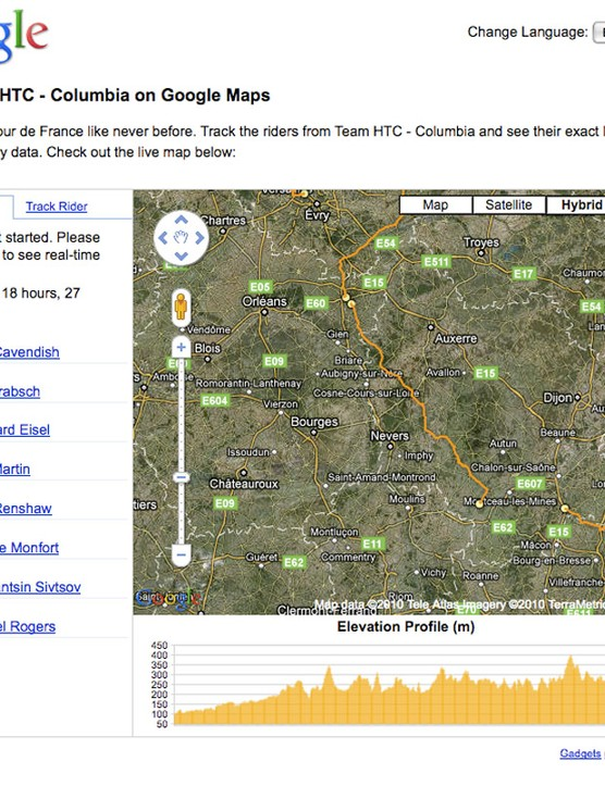 Google's own web page includes an elevation profile at the bottom of the screen.