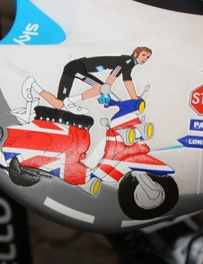 Prologo say the custom graphics were inspired by Sixties-era scooters