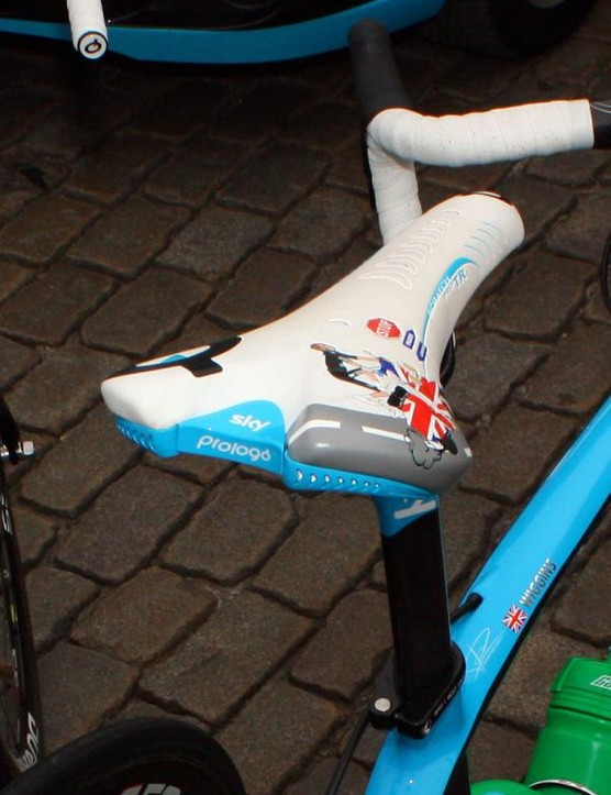 The rear of the saddle features Prologo's interchangeable clip system, to which various accessories can be attached