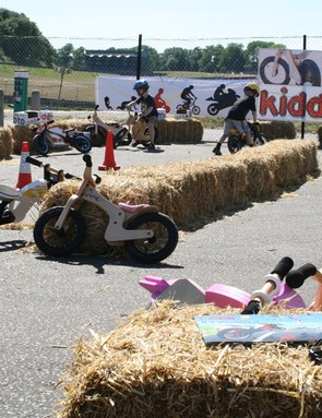 The Kiddimoto test track kept the younger crowd smiling