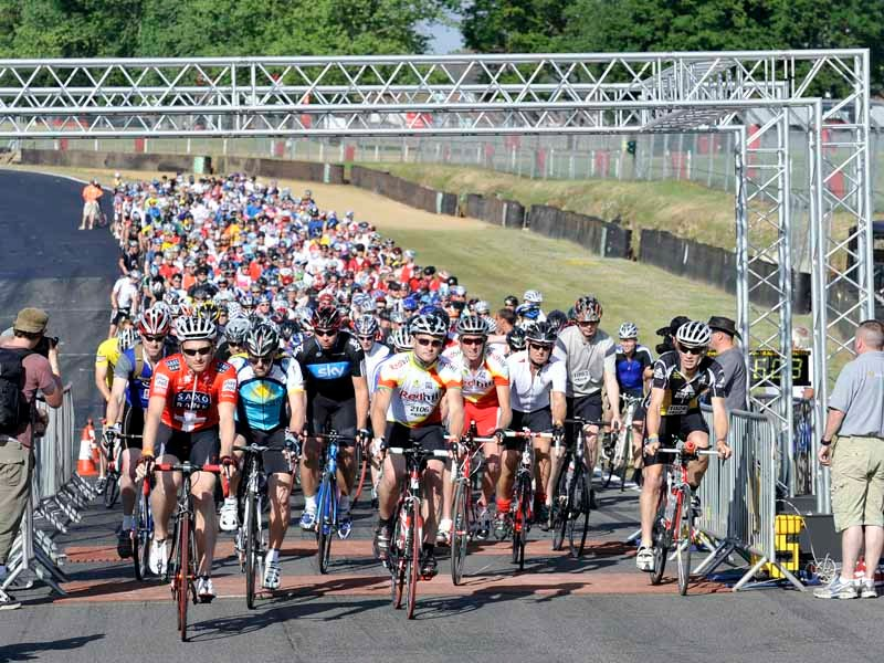 The start of the Cycling Plus Sportive