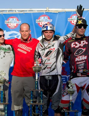 Brian Lopes, Roger Rinderknecht, Michal Prokop and Joost Wichman celebrate their podium places