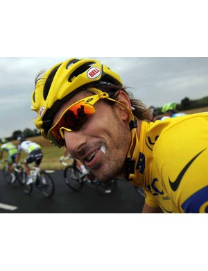 Fabian Cancellara bade farewell to the yellow jersey in stage 7