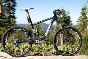 Giant built up their 2011 Trance X frame and rear shock with select components to handle the rigours of the Downieville Classic