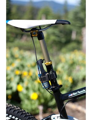 A CrankBrothers Joplin 4 or equivalent adjustable seatpost is a must for the Downieville courses