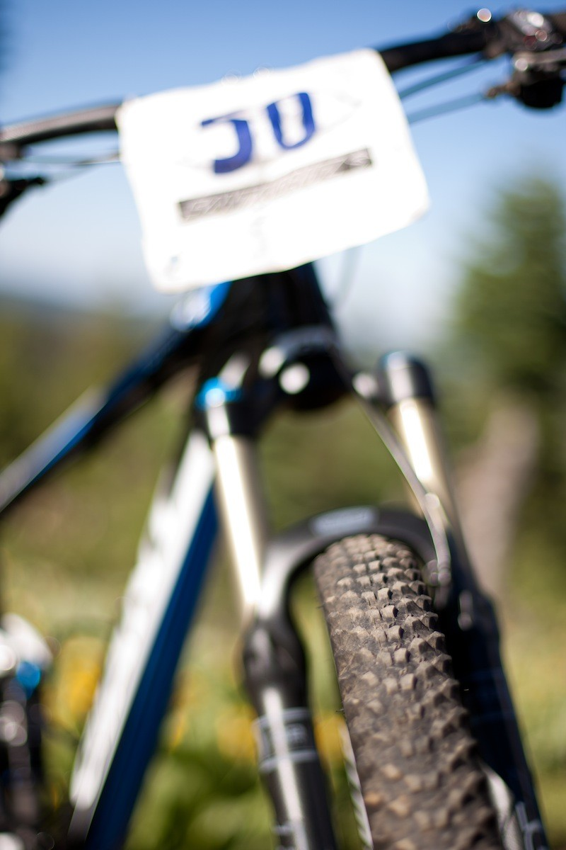With the number 50 the BikeRadar piloted bike finished 28th in the all-mountain category