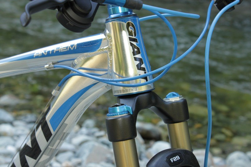 The new 29er utilizes a 1 1/8in to 1 1/2in tapered head tube and steerer, dubbed OverDrive