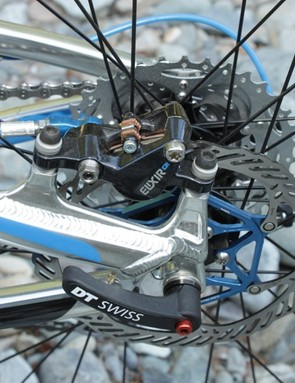 Post mount brakes are standard issue for Giant's 2011 Aluxx alloy models