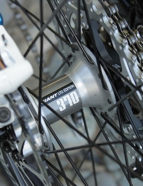 DT Swiss takes over from Mavic as Giant's go-to wheel specification, both full wheels from the Swiss manufacturer or custom built wheels using their hubs and spokes