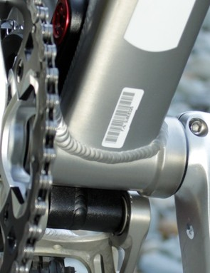 The PowerCore bottom bracket steps down from its sides to, presumably, save weight