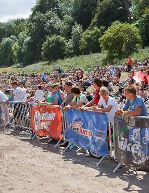Crowd at the MBUK Dirt Jump Invitational