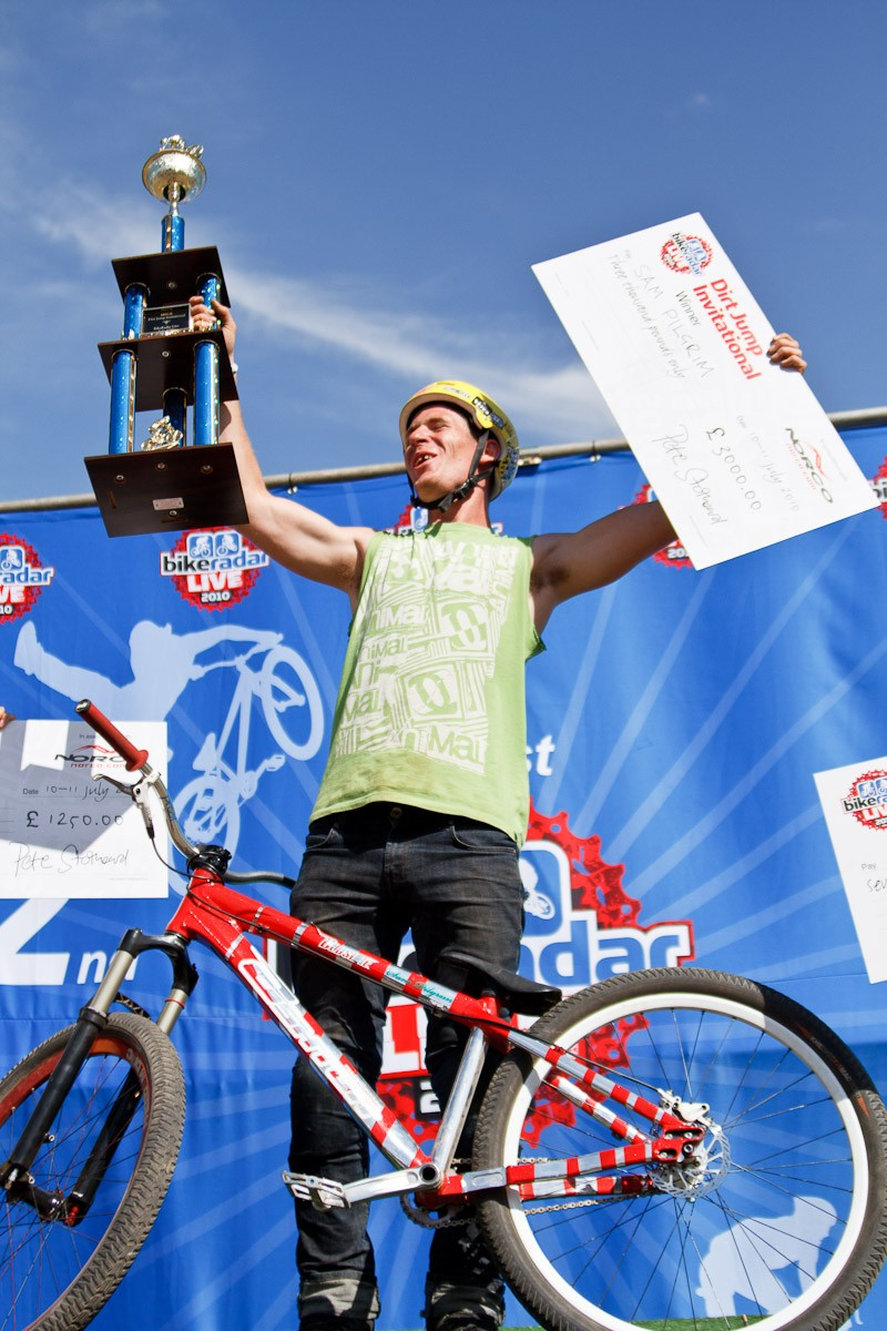 Sam Pilgrim scooped £3,000 for winning the 2010 MBUK Dirt Jump Invitational