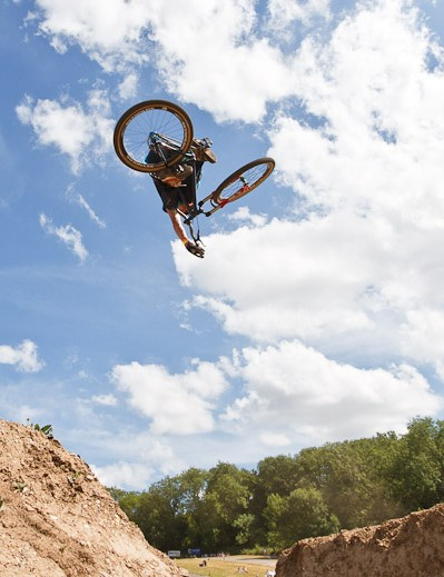 Sam Reynolds in the MBUK Dirt Jump Invitational