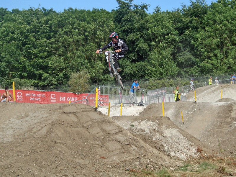 Matthew Jones was the top junior in the open dual slalom
