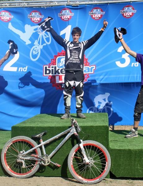 Junior podium (L-R): Isaac Mundy, Matthew Jones, Jordan Lunn