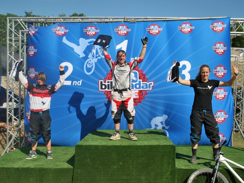 Katy Curd topped the women's podium