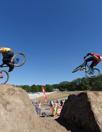 Sam Reynolds (left) followed by Ryan Nangle