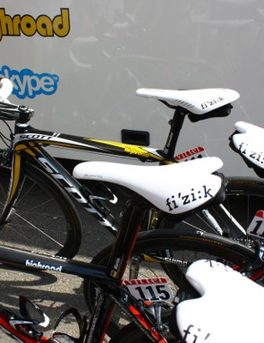 Mark Cavendish (HTC-Columbia) used his old bike for both stage wins in this year's Tour de France but based on the changes we've seen, it's for fit reasons, not because of the bike itself.  We expect to see him back on the new rig soon