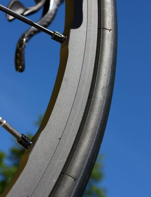 This 2011 Mavic R-Sys rim is notable for its new brake track texture as well as the interesting extra-hard surface finish. We'll have more official information in a few weeks