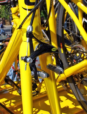 Mavic neutral spare bikes naturally come with the company's own brake callipers