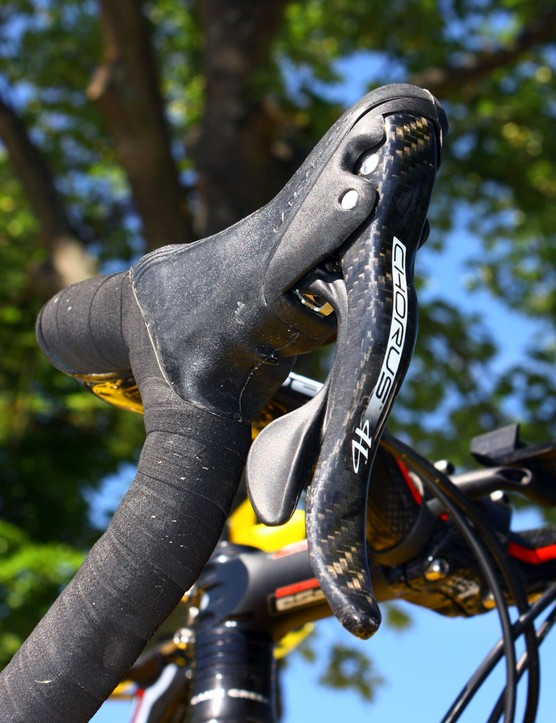Mavic neutral spares aren't exactly ratty hand-me-downs with Campagnolo Chorus componentry