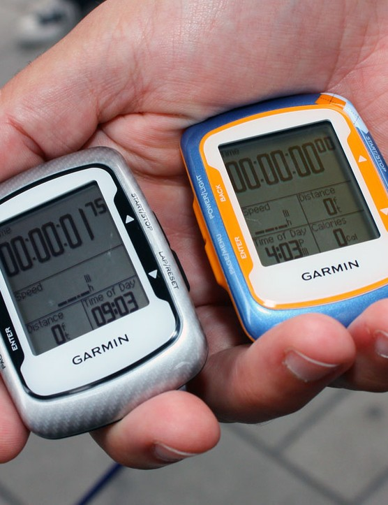 Garmin's latest Edge 500 is available in both Garmin-Transitions team colours, the original blue or this more neutral black
