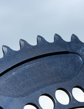 Rotor say the new Q-Ring tooth profile yields smoother downshifts than before