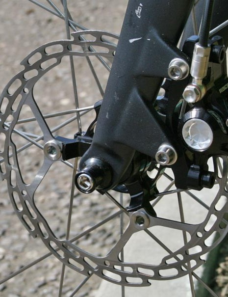 Hope X2 brakes on the Montpellier