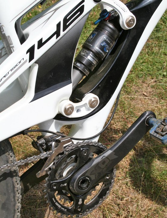 Whyte 146 rear suspension detail