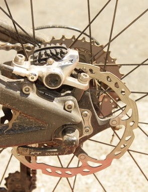 Shimano's new XTR brake equipped with 'Radiator' pads with cooling fins