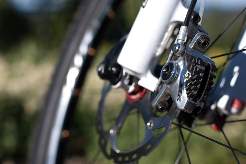 Shimano's XTR caliper with Trail pads and Ice Tech rotor