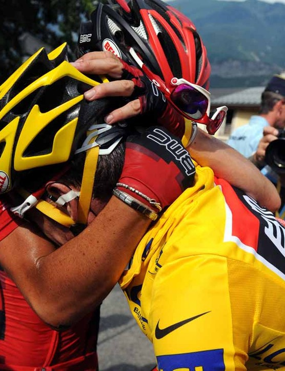 Cadel Evans was upset after stage 9, where he lost the yellow jersey
