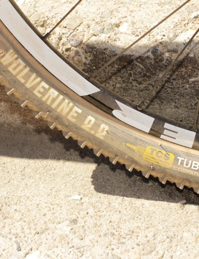 WTB's Wolverine 2.2 FR TCS reinforced fast rolling tyre