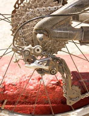 Shimano's new XTR M980 rear derailleur and 11-36-tooth cassette
