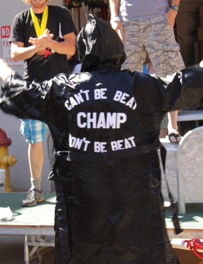 'Can't be Beat, CHAMP, Won't be Beat,' though it was only 9 seconds, a win is a win