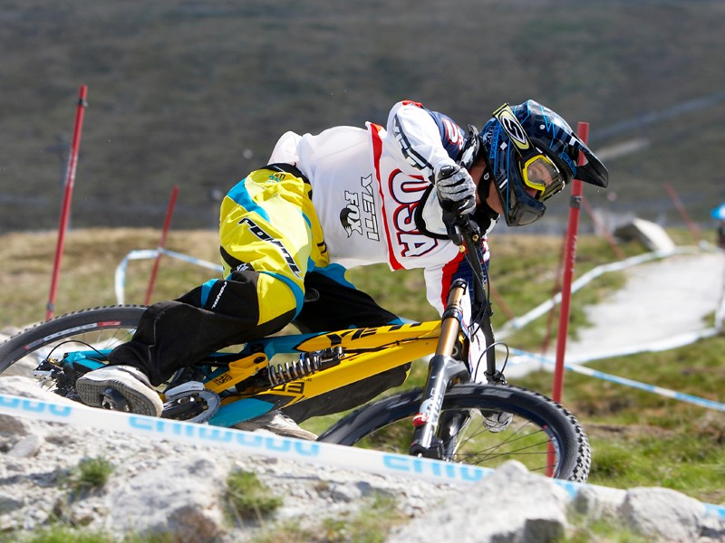 a52e6de98f4 Aaron Gwin in action at this year's second World Cup round in Fort William,  Scotland