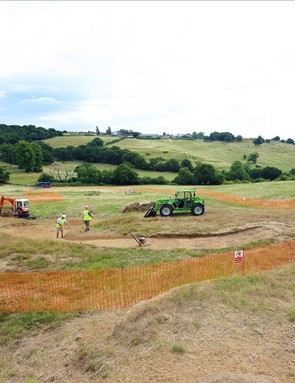 Work has started on the Olympic cross-country course at Hadleigh Farm in Essex