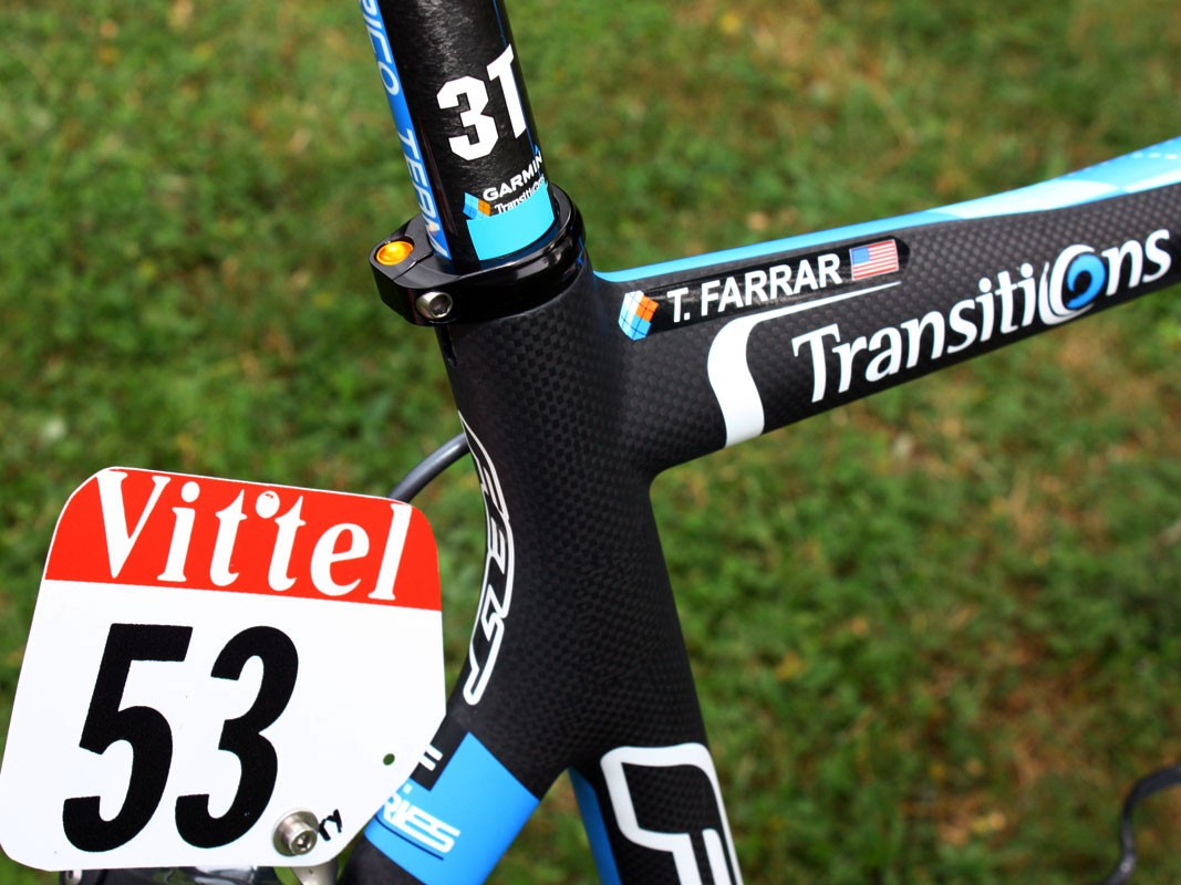 The offset seat cluster provides the anchor point for the 27.2mm-diameter seatpost
