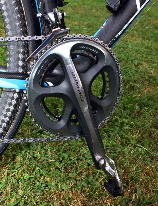 The cranks feature a unique extra-stiff outer chainring that yields noticeably improved shifting over its predecessor