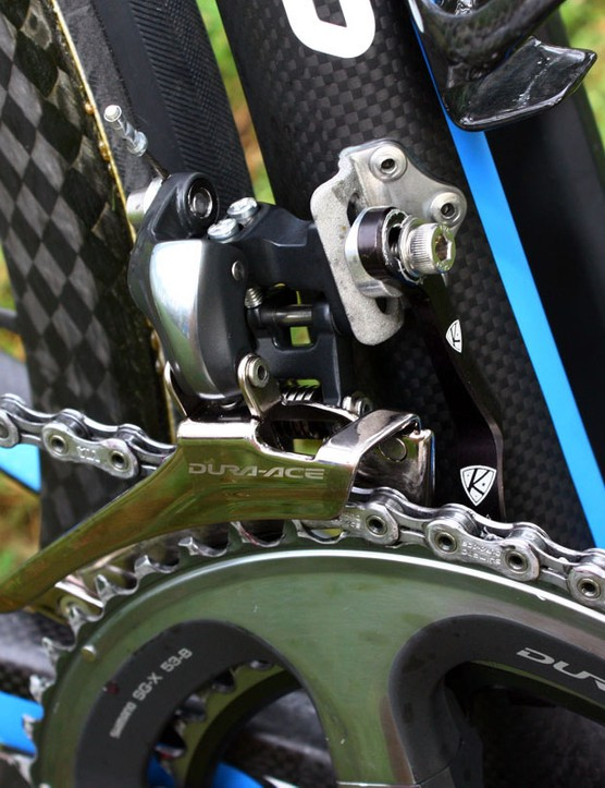 Garmin team bikes feature AceCo K-Edge chain watchers