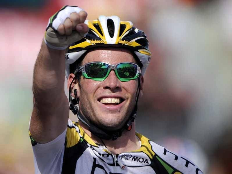 Mark Cavendish after his second stage win