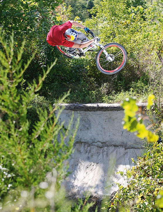 Chase pioneered tricks like the backflip 180 and backflip to fakie on mountain bikes