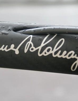 Ernesto Colnago signature
