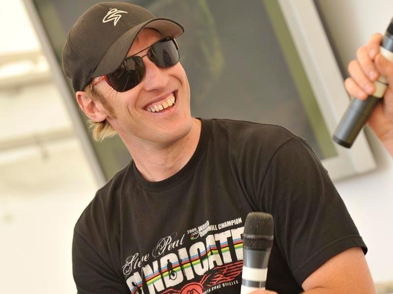2010 British Downhill National Champion Steve Peat at this year's BikeRadar Live